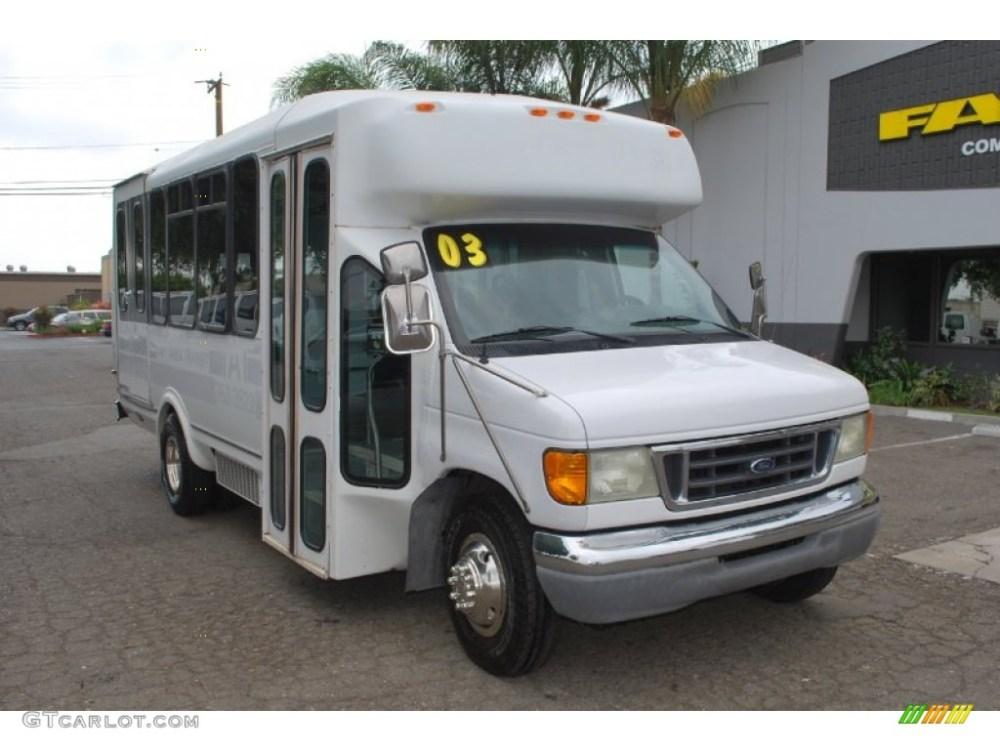 medium resolution of 2003 f450 super duty passenger bus oxford white medium flint photo 1