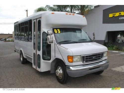 small resolution of 2003 f450 super duty passenger bus oxford white medium flint photo 1