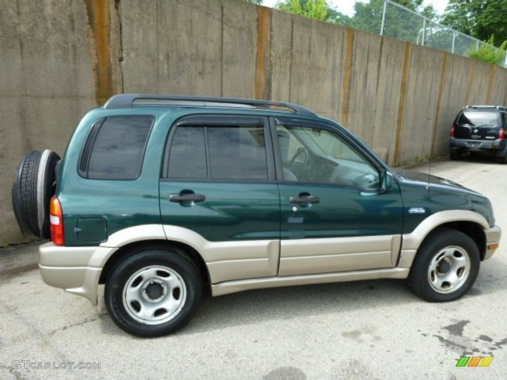medium resolution of grove green metallic 2002 suzuki grand vitara jlx 4x4 exterior photo 83160862