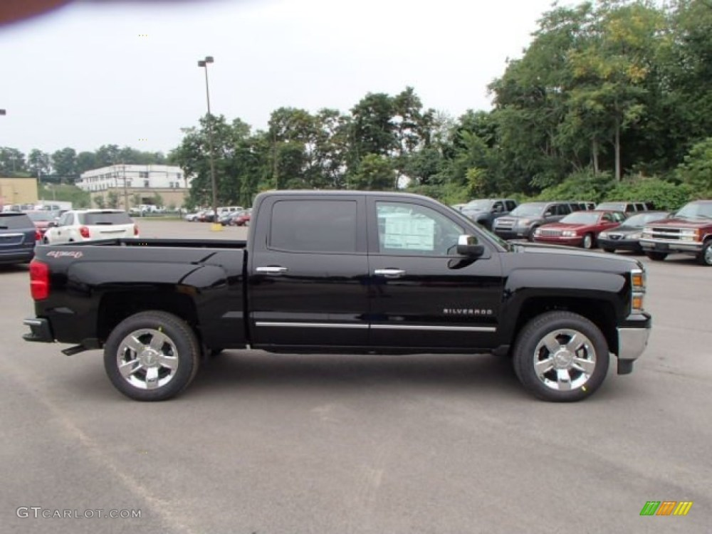 medium resolution of 2014 black chevrolet silverado 1500 ltz crew cab 4x4 83692716