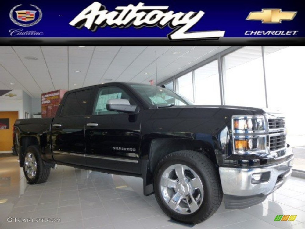 medium resolution of 2014 black chevrolet silverado 1500 ltz z71 crew cab 4x4 84713701