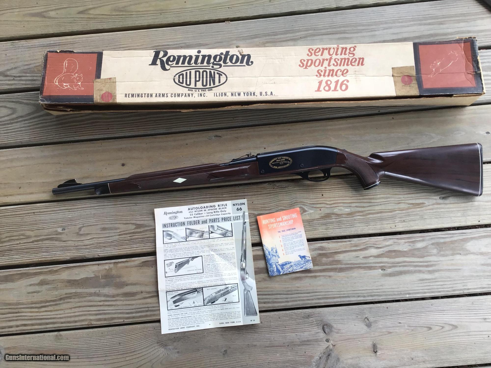 hight resolution of remington nylon 66 150th anniversary new unfired 100 cond