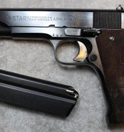 star b echeverria s a model m 9mm largo and 38 acp not 38 super semi  [ 3000 x 1937 Pixel ]