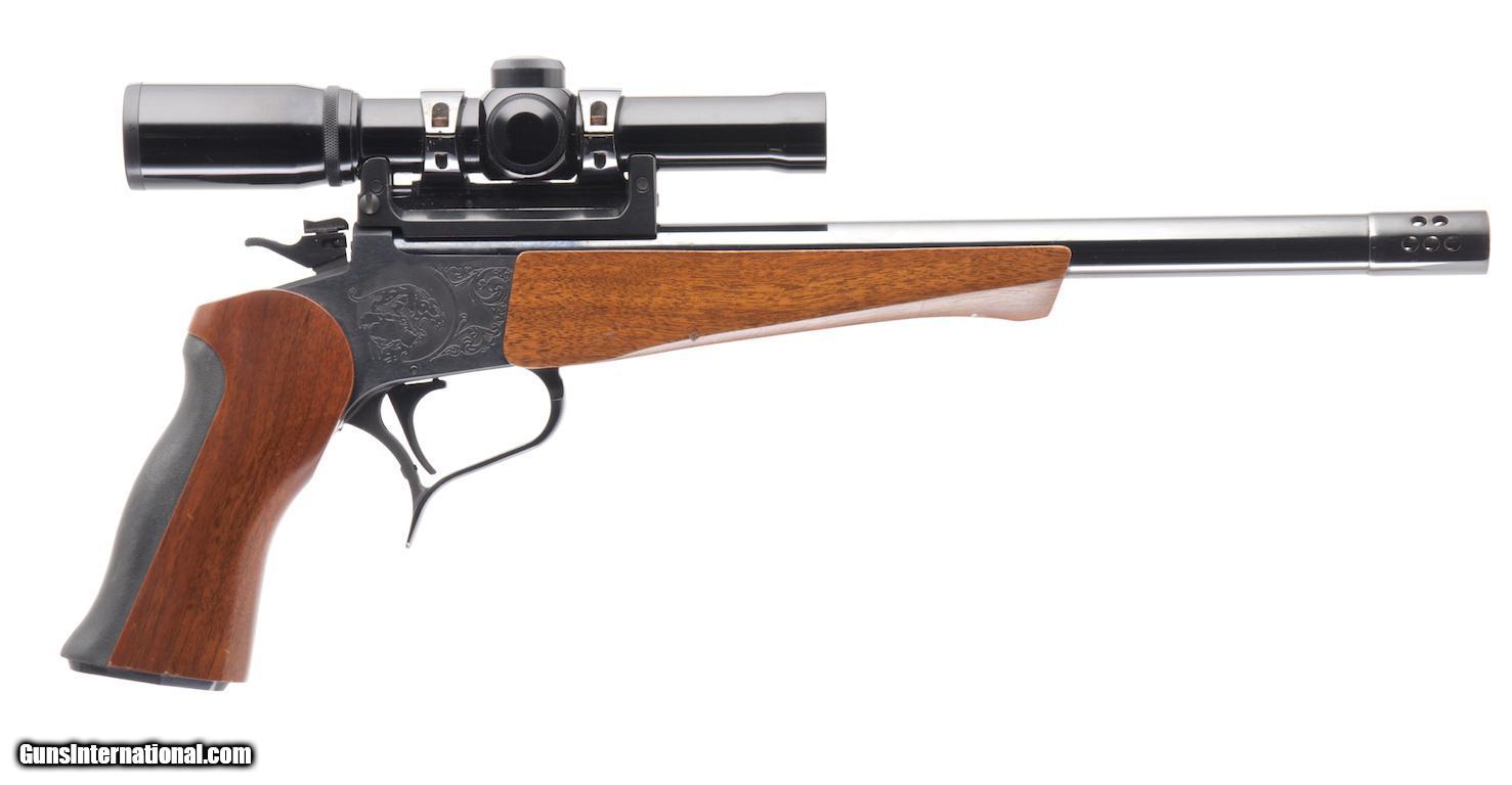 hight resolution of thompson center contender 375 win single shot pistol 1 of 25