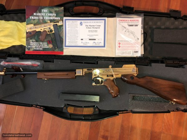 Auto Ordnance Tommy Gun Gold - Year of Clean Water