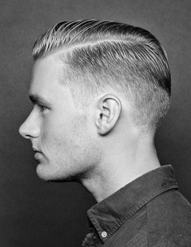 Vorlage Für Herren Undercut? Haare Friseur Seitenscheitel