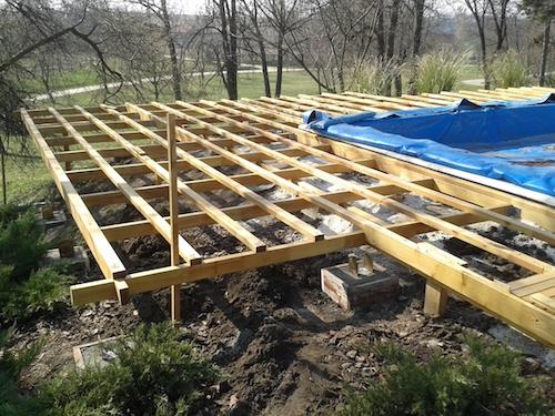 Terrassen Unterkonstruktion Auf Rasen 02 49 11 EgeNis Com