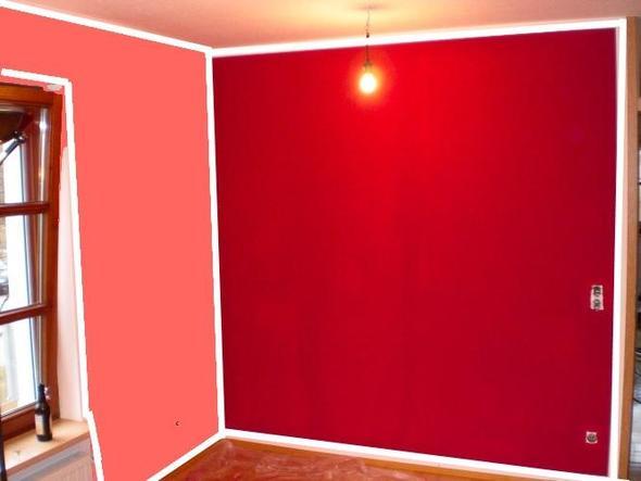 Wohnzimmerwand streichen aber WIE oO Farbe