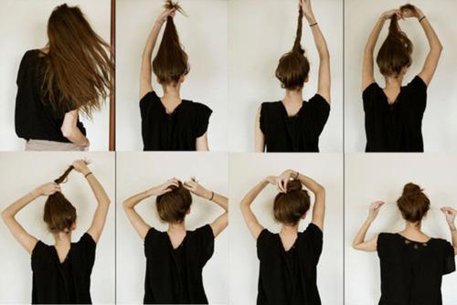Frisuren Zusammengebunden Anleitung Frisur Mittellang