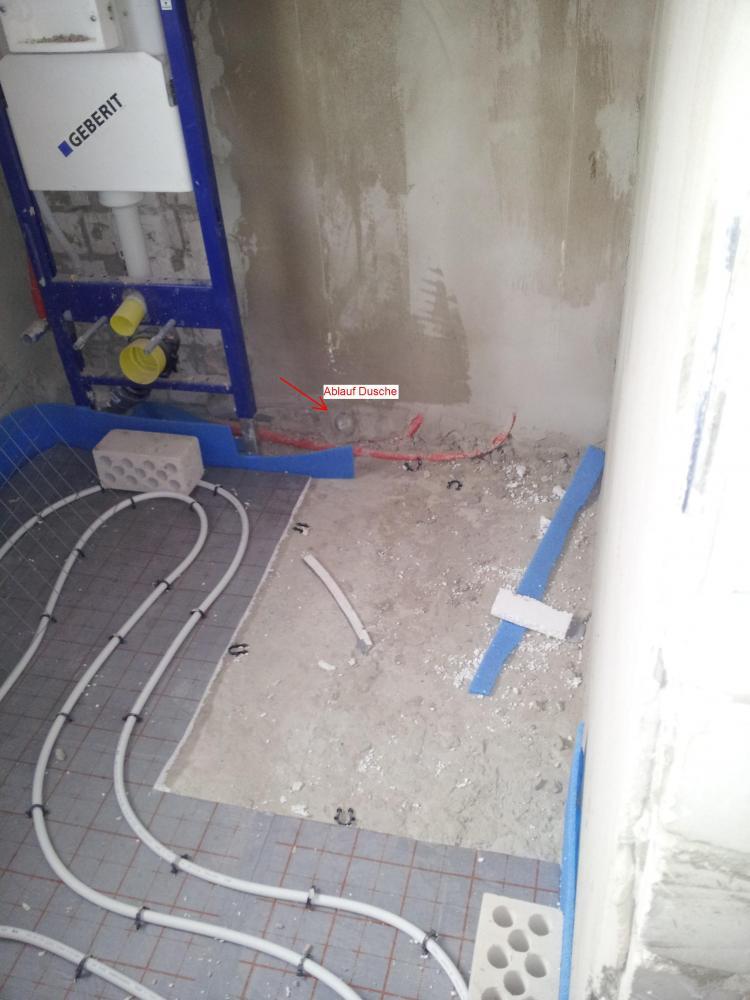 Bodengleiche Dusche mglich oder doch nicht Badezimmer Abwasser