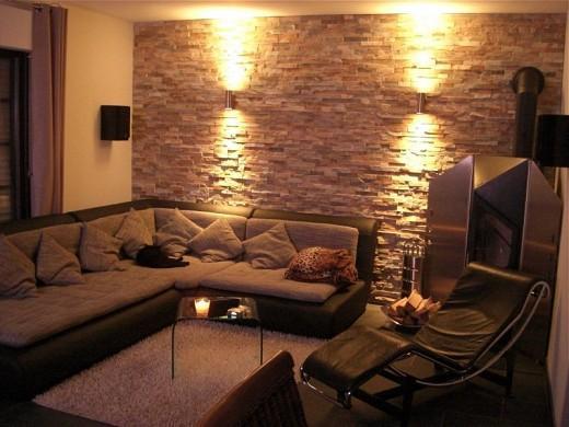 Design Wohnung  Wnde wie eine Steinmauer aussehen lassen 3D Optik Nur wie Handwerker