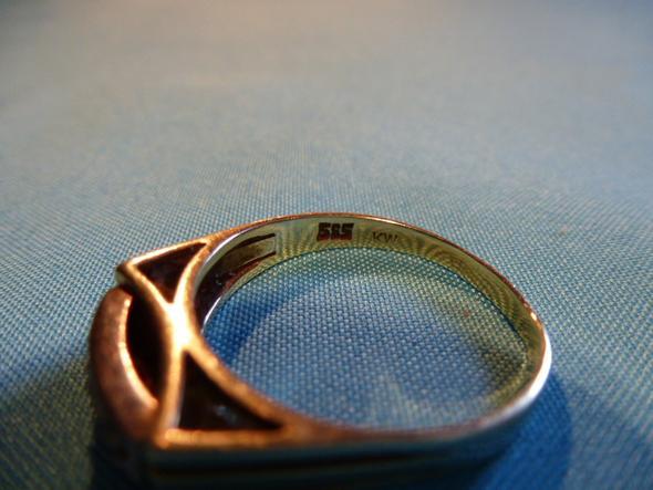 Goldring punziert 585 KW Beauty Schmuck Ring