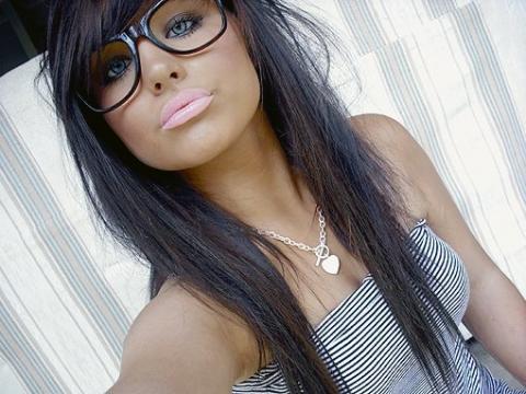 Haare von braun auf schwarz