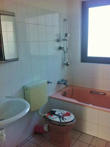Kleines, altes Badezimmer billig aufpeppen (Wohnung, Haus, Haushalt)