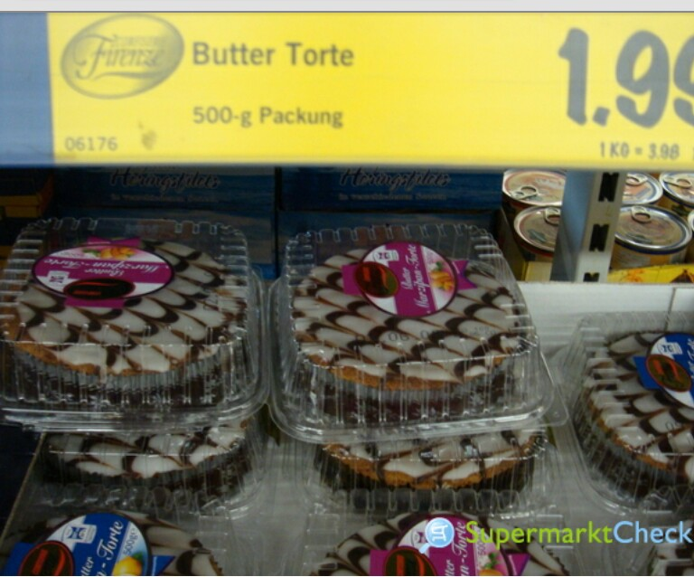 MarzipanButter Torte von Lidl nach backen Kuchen