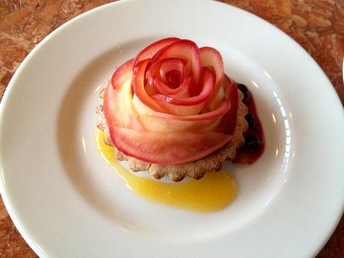 Rezept fr japanisches Apfeltrtchen siehe Bild japanisch Torte Rosen