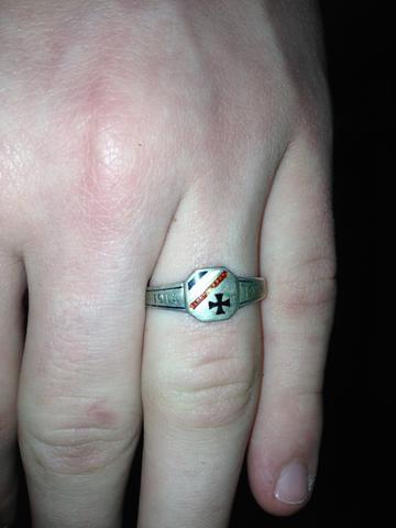 Ring aus dem 1 Weltkrieg Haus Kaiserreich eisernes kreuz