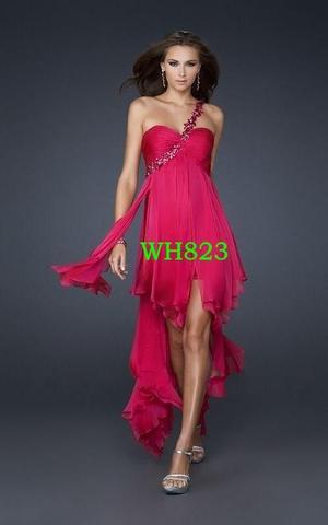 Rotpinkes Kleid und Goldene Schuhe Tasche Hochzeit pink Gold rot