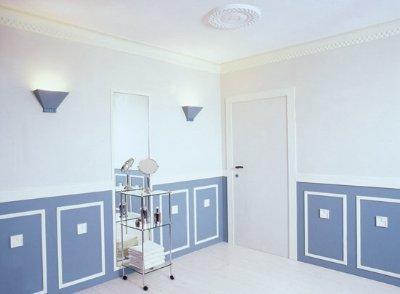 Wand streichen  Muster Farbe Kreativitt kreativ