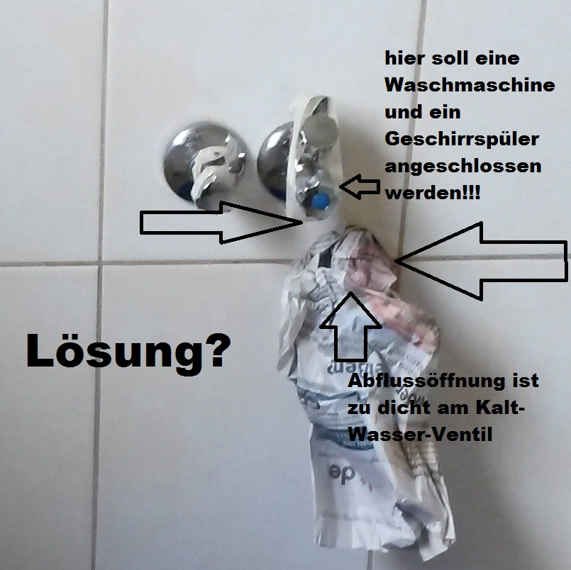 Waschmaschine Geschirrspler und Sple in der Kche