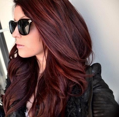 Wie heit diese Haarfarbe  rot  braun Haare