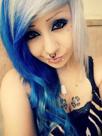wie sieht haarfarbe aus haare farbe blau