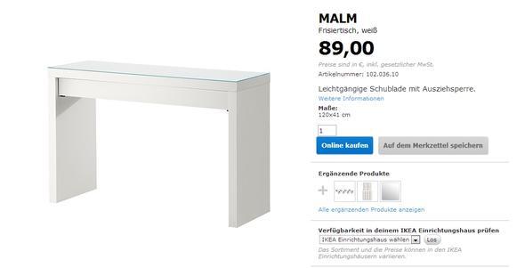 Ikea malm schminktisch aufbewahrung  Startseite Schlafzimmer Frisiertische - Planbois