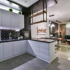 Grey Tiles For Kitchen Floor Ss Equipments Contemporary Twist A Bandar Kinrara Terrace House By ...