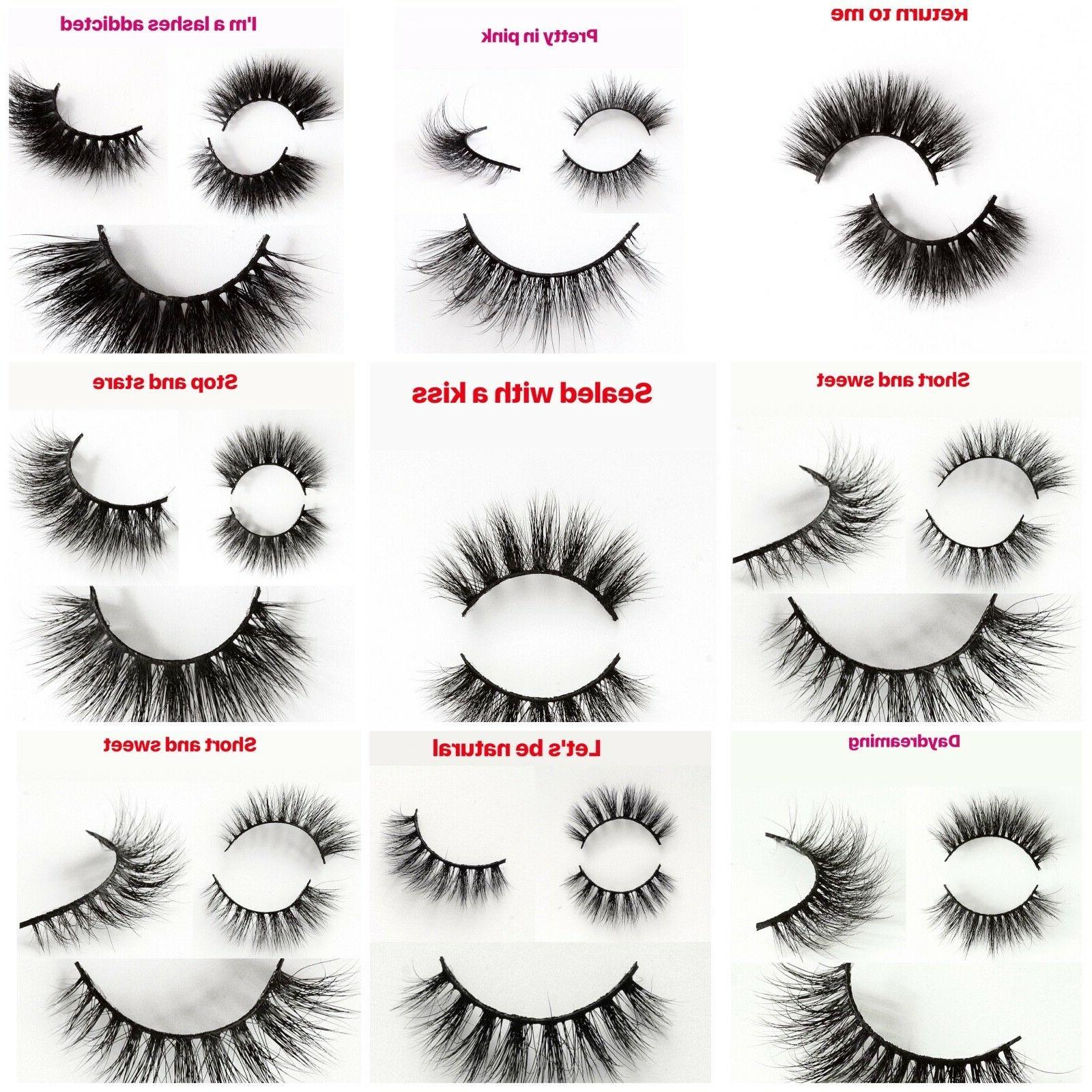 Eyelashes 3D Mink Hair 100% LUXURY Natural Long