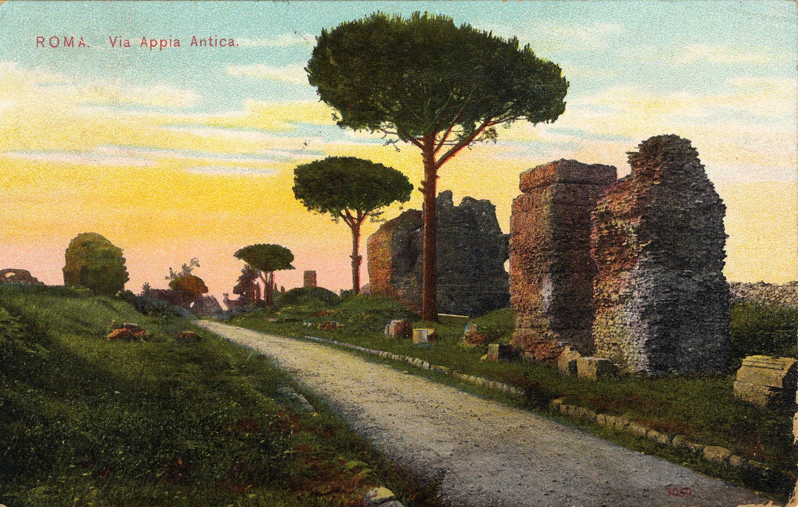 Full Image View: Roma. Via Appia Antica.: Halton Images