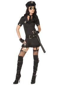 Ladies Sexy Bad Cop Costume - Womens Police Uniform Costumes