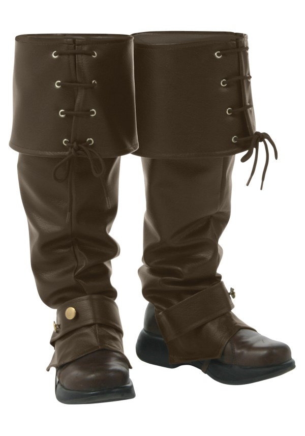 Brown Boot Covers - Pirate Costume Accessories