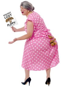Lost Dog Costume - Adult Funny Halloween Costumes