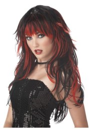 black and red hair highlights