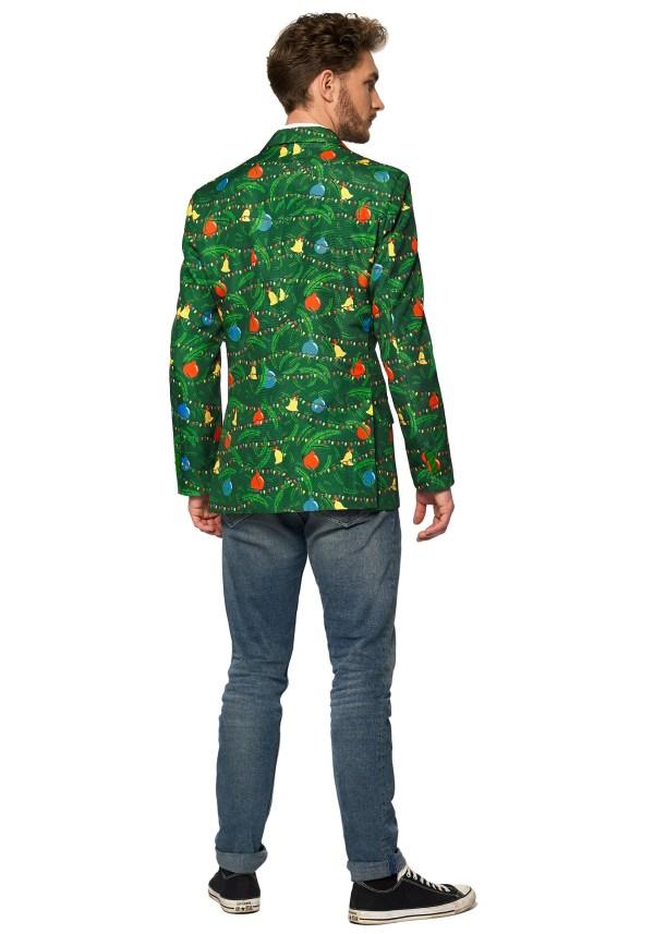 Christmas Green Tree Light Men' Blazer Suitmeister