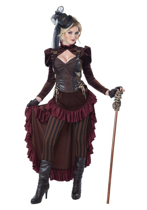 Victorian Steampunk Woman Costume