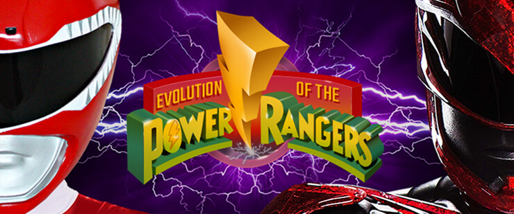 Evolution of the Power Rangers header image