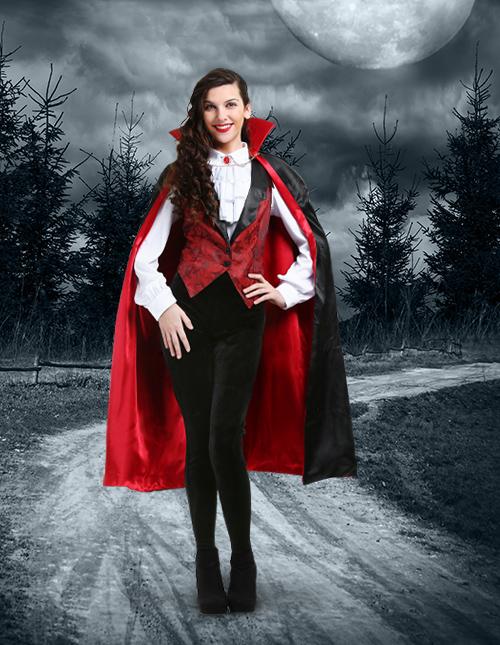 Diy Vampire Costume Womens : vampire, costume, womens, Vampire, Costumes, Outfits, Dracula, HalloweenCostumes.com