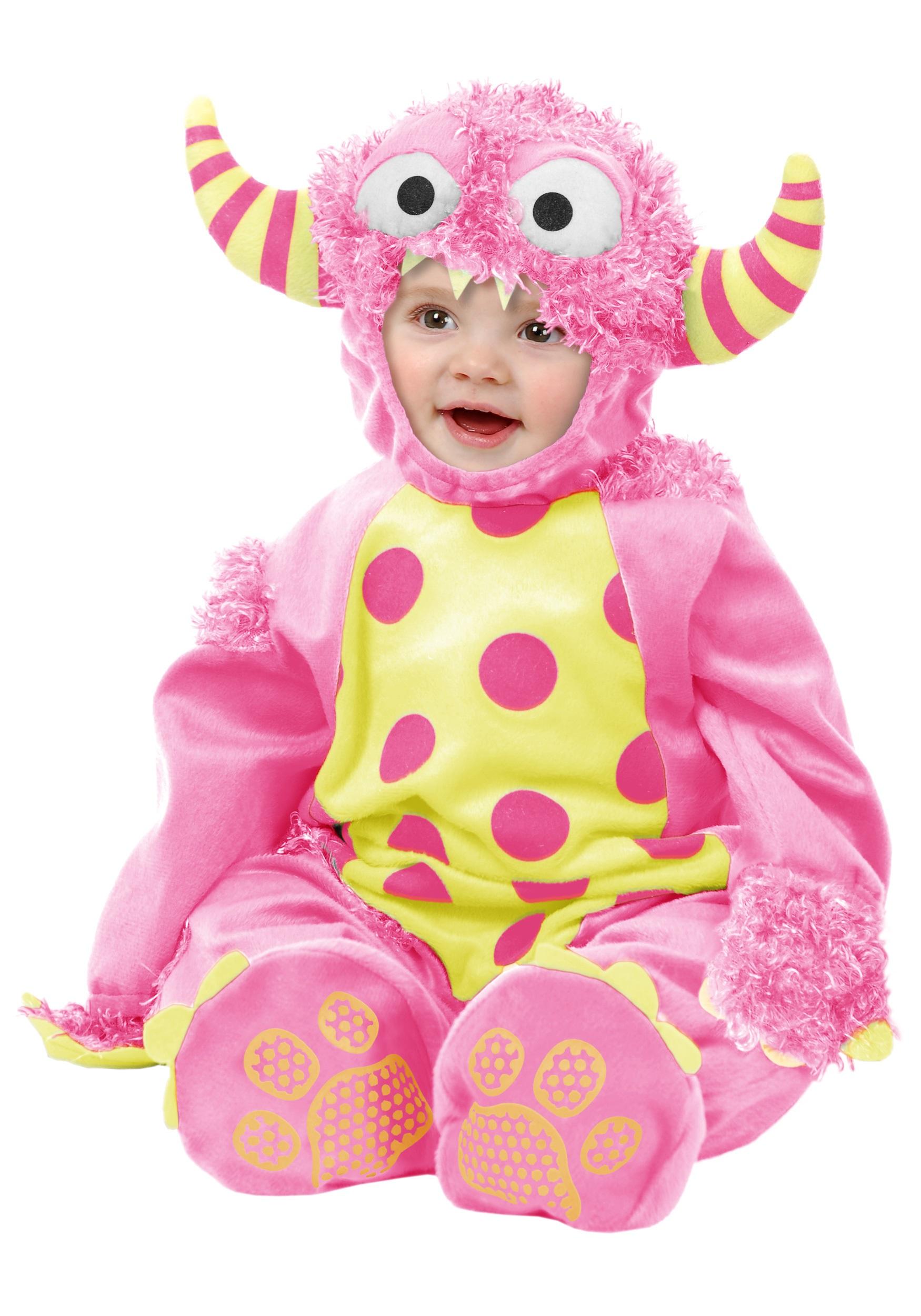 infant pink mini monster