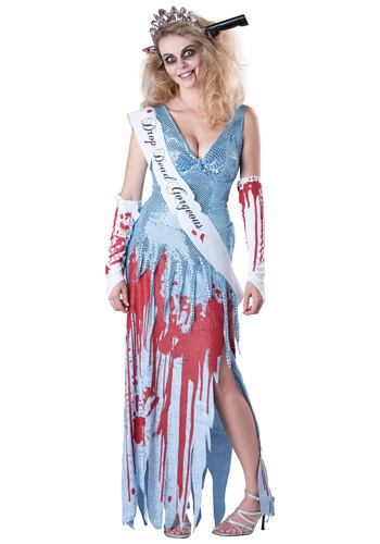 zombie prom costumes for couples - Drop Dead Prom Queen Costume