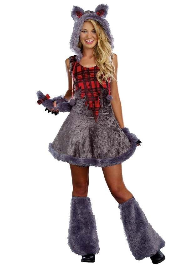 Full Moon Sassy Werewolf Costume Teens