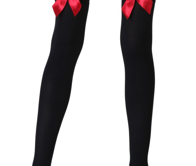 Black Stockings With Red Bows Jpg