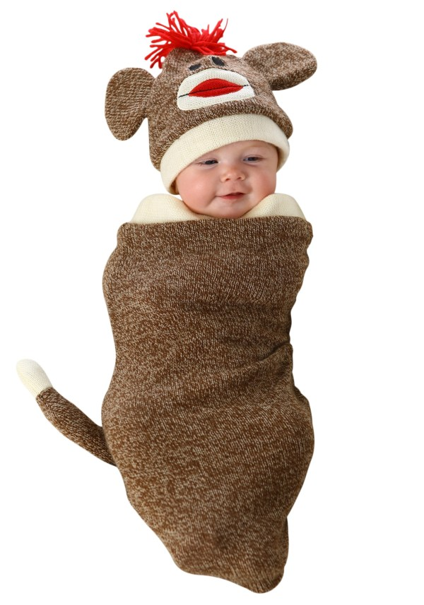 Sock Monkey Newborn Bunting Costume