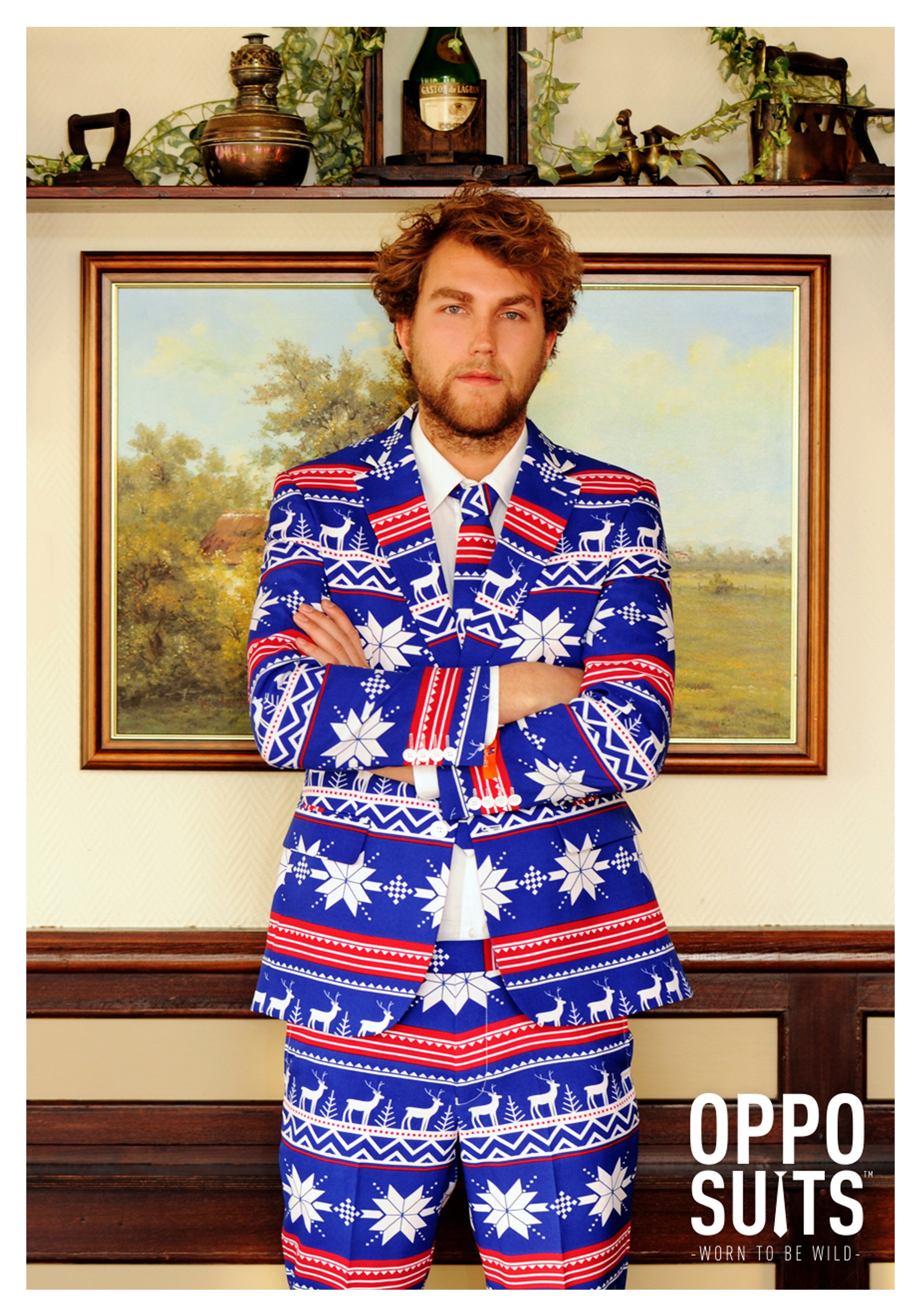 Mens Ugly Christmas Sweater Suit OppoSuits Costume