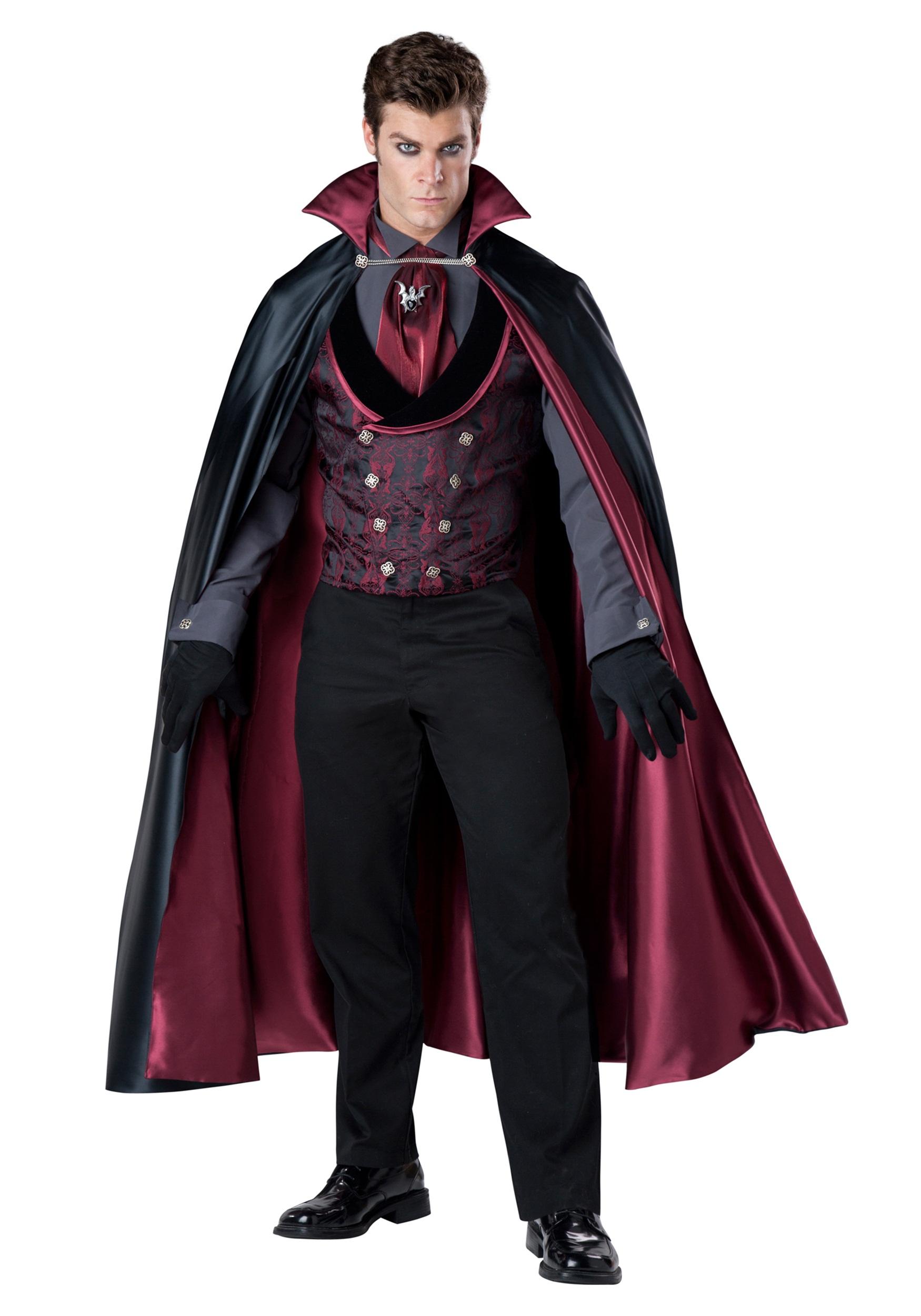 Sexy Vampire Costume Men : vampire, costume, Nocturnal, Count, Vampire, Costume