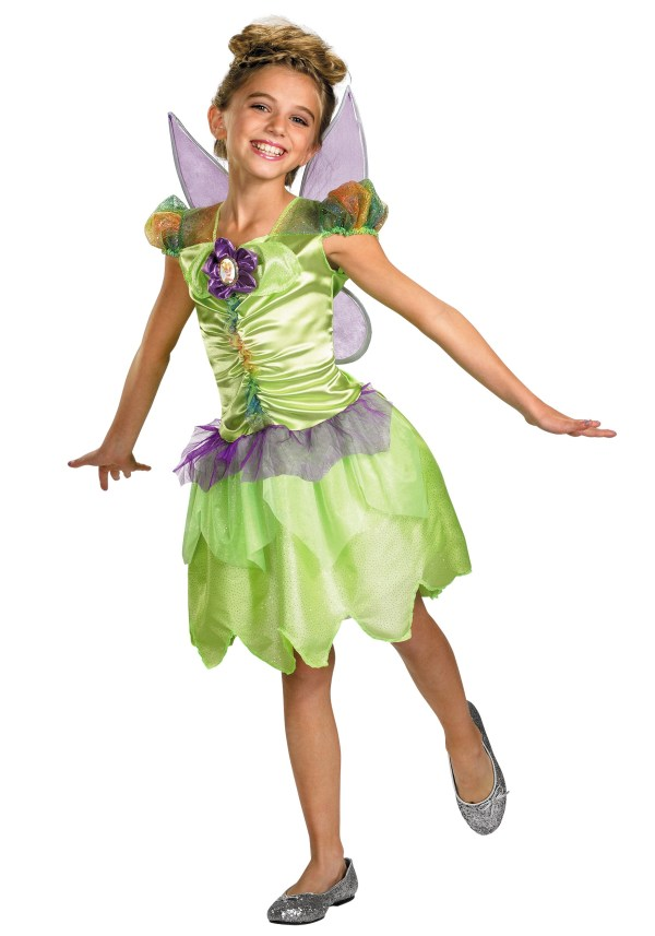 Girls Tinker Bell Rainbow Costume