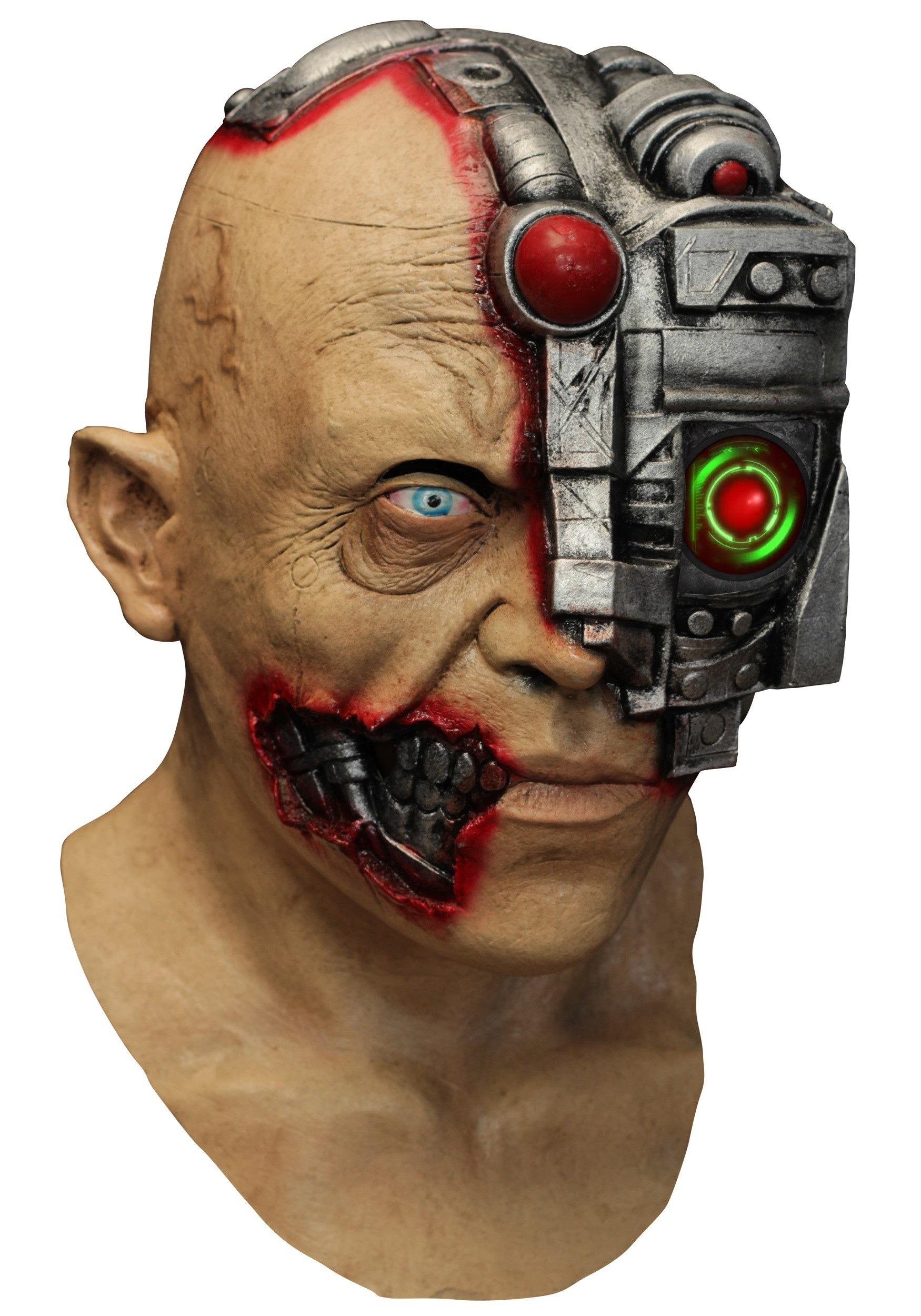 Animated Scanning Cyborg Adult Mask