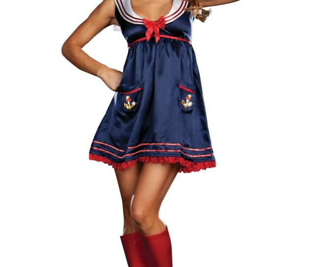 Sexy Blue Sailor Girl Costume Jpg