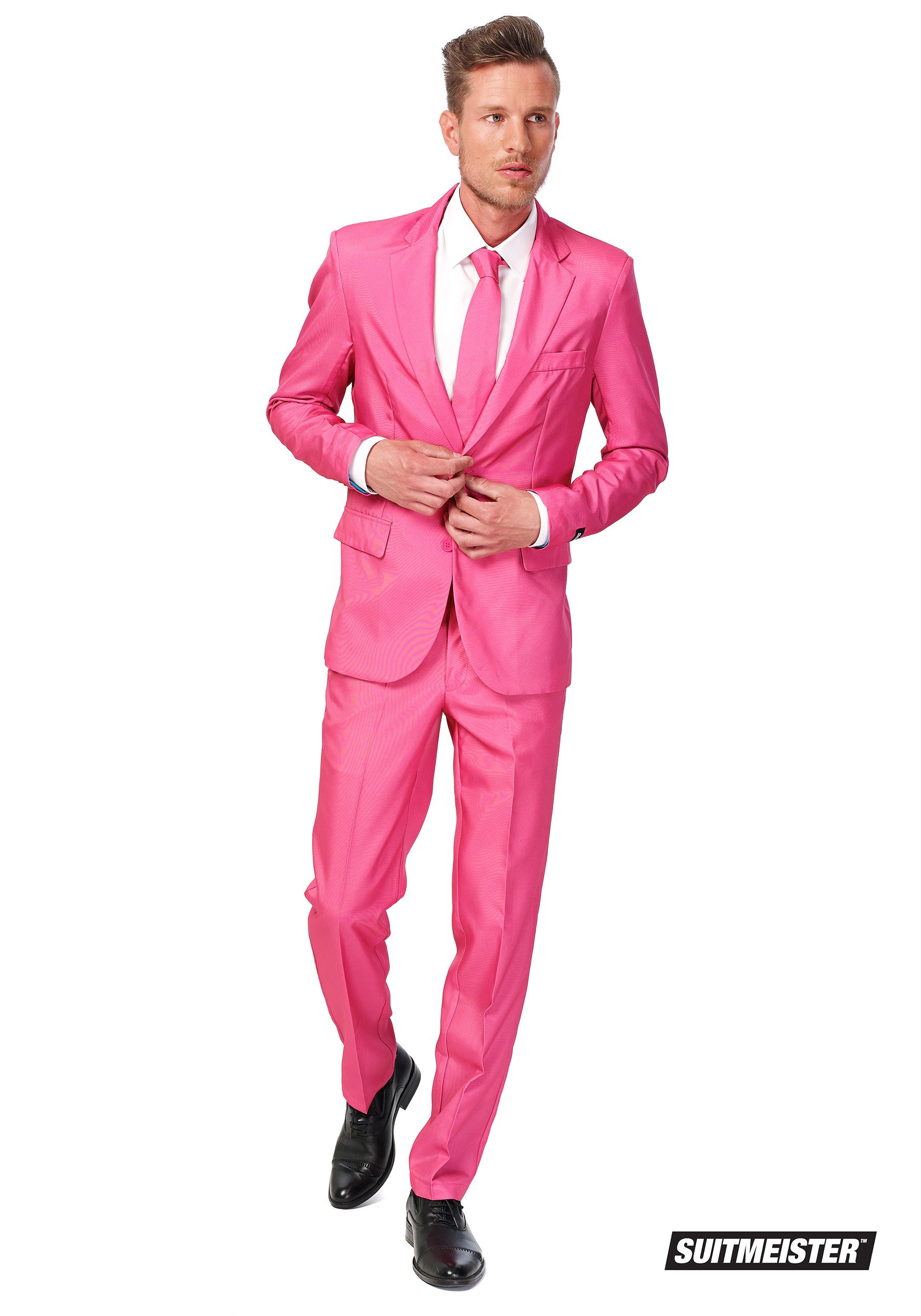 Mens SuitMeister Basic Pink Suit