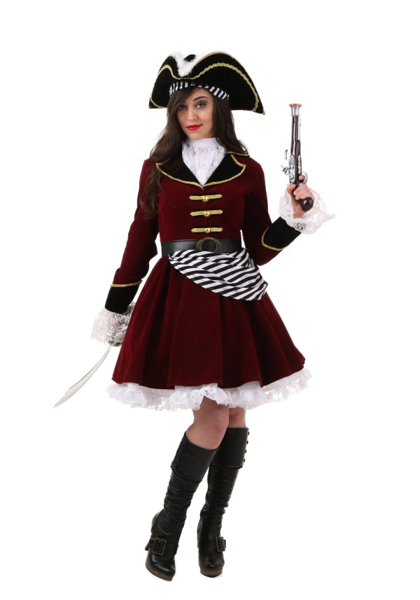 Size Women' Captain Hook Costume With Hat